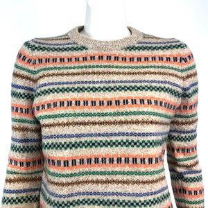 J. Crew Factory Medium Fair Isle Nordic Sweater